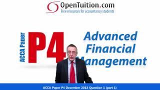 acca p4 question 1 december 2013 part 1