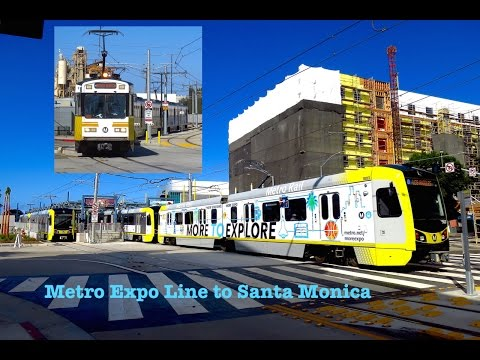 Metro Expo Line to Santa Monica - The Best Spots in 4K