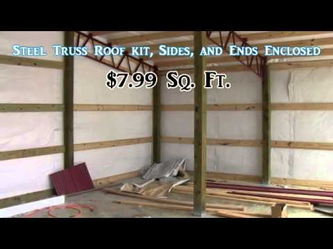 Kentucky Pole Barn And Quot Steel Trusses Quot American Made Youtube