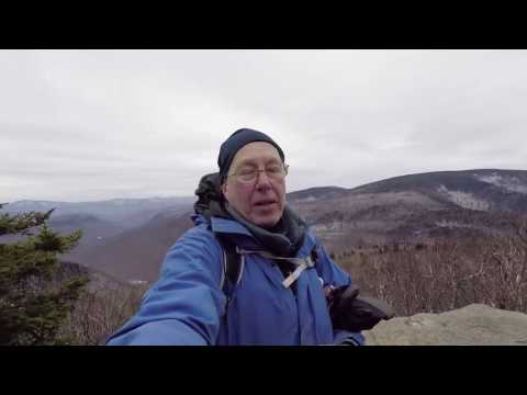 Winter hike up plateau Mountain in the Catskills