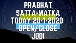 Prabhat satta-matka today 20-01-2020 open to close & jodi with panel chart trick phd in satta