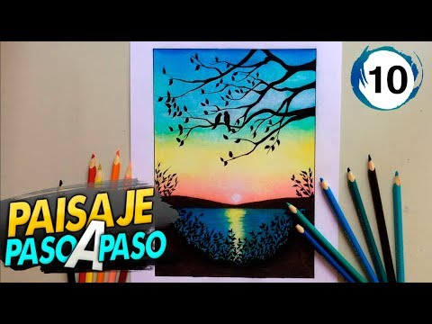 Paisaje A Color Con Lapices De Colores Paso A Paso 10 Youtube
