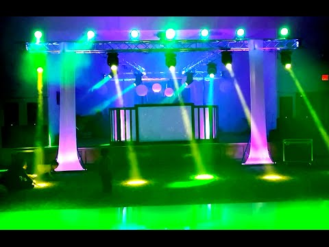 DJ SHOW MCALLEN ( show de luces tipo concierto.. luces BEAM @ luxor banquet hall )