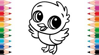 How to Draw Chick Coloring Pages for Kids and Toddlers