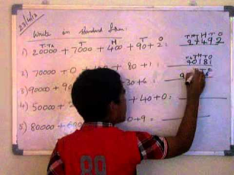 Mathematics Write In Standard Form 4th Class Youtube