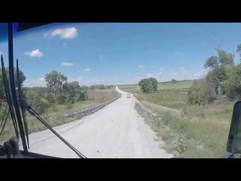 Kansas Backroads Bridge is out, navigating a cornfield detour.....