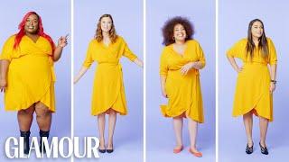 Women Sizes 0 Through 28 Try on the Same Wrap Dress | Glamour