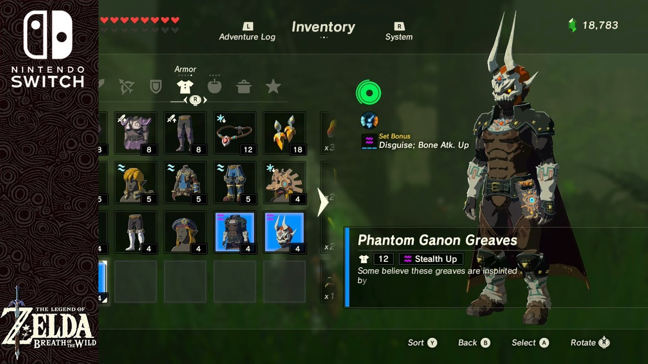 Phantom Ganon Armor Locations Legend Of Zelda Breath Of The Wild
