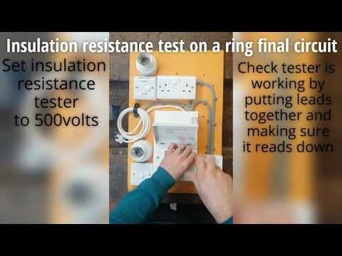 Insulation resistance of final ring main 500v
