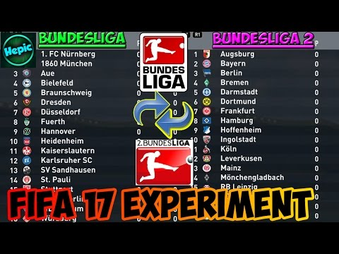 WHAT IF THE GERMAN LEAGUES WERE REVERSED? - FIFA 17 CAREER MODE EXPERIMENT