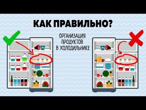 Как лучше хранить продукты в холодильнике