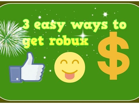 3 easy ways to get robux (no bc) - YouTube