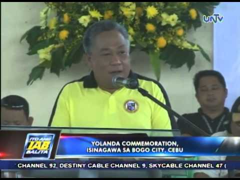 Yolanda commemoration isinagawa sa Bogo City, Cebu