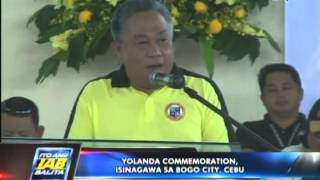 Yolanda commemoration isinagawa sa Bogo City, Cebu