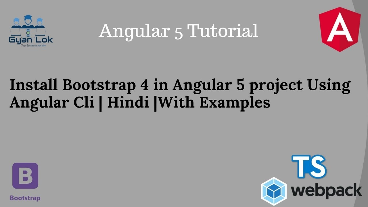 install bootstrap 4 in angular project