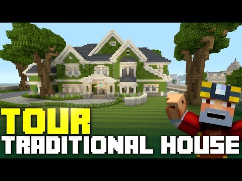 Minecraft Green Traditional House Tour On Xbox One City Texture Pack