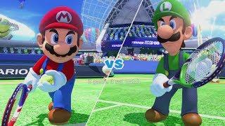 Mario Tennis: Ultra Smash - Mario vs. Luigi - Mega Battle