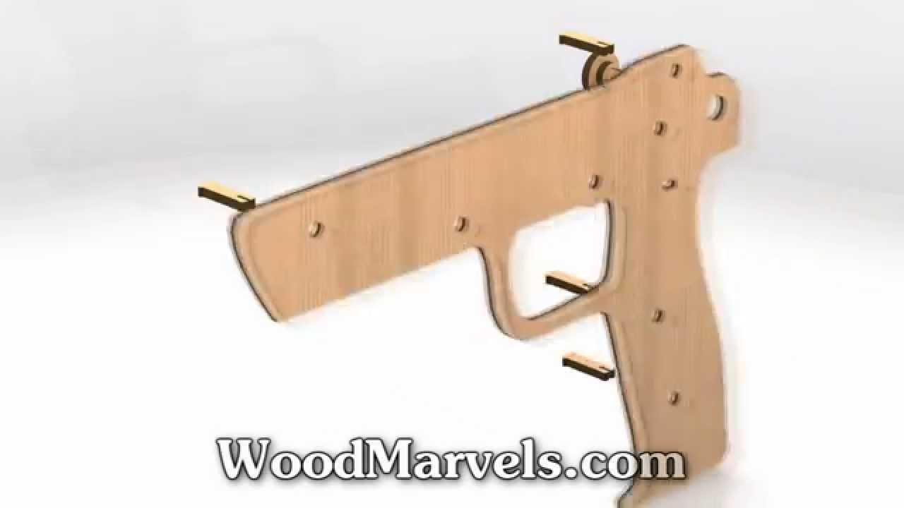 Elastic Band Gun 3d Assembly Animation 720hd Youtube