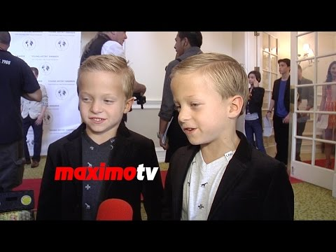 Sons of Anarchy Twins Evan and Ryder Londo  Young Artist Awards 2015