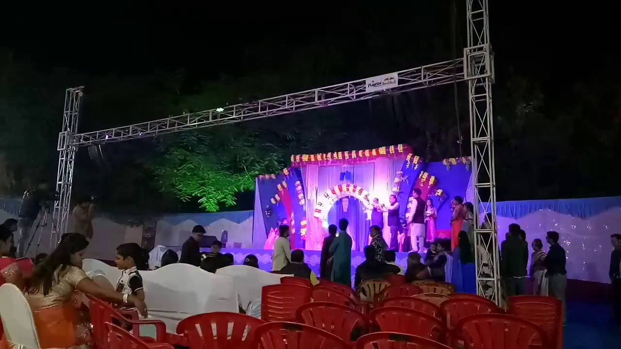 Dj Rajesh Sound and light setup with one side Truss - YouTube