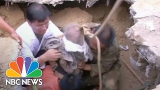 Elderly Woman Rescued From China Quake | NBC News
