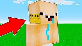 Minecraft Battle - NOOB vs PRO : NOOB BUILT HEAD BLOCK BASE INSIDE BABY NOOB ! (Animation)