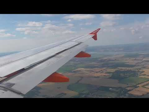 Approach and landing at Southend Airport from Jersey UK