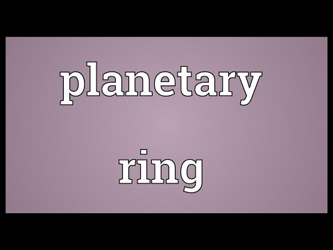 Planetary ring Meaning