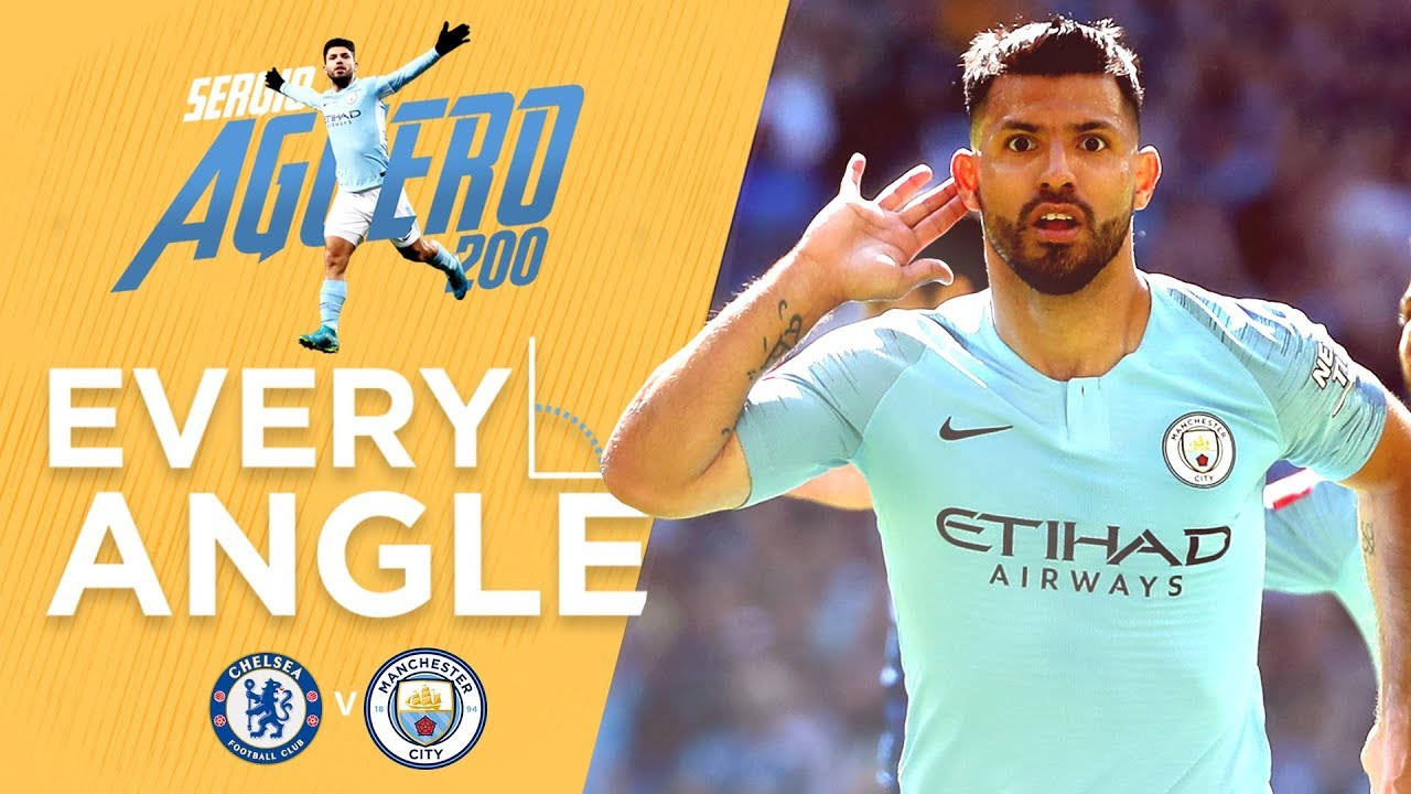 AGUERO'S 200TH GOAL | EVERY ANGLE | Man City 2-0 Chelsea | Community Shield  2018/19