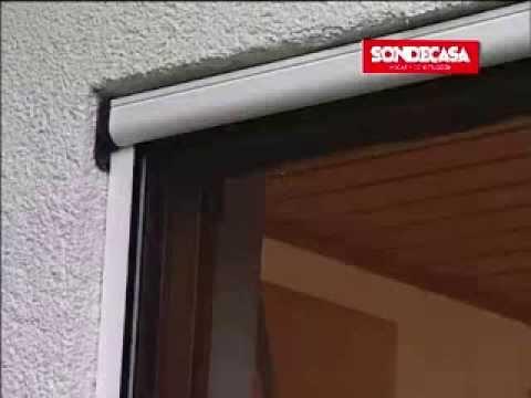 Mosquitero enrollable para ventana en aluminio sondecasa for Mosquiteros de aluminio