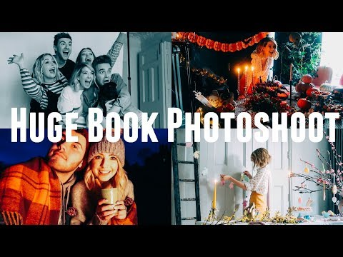 HUGE BOOK PHOTOSHOOT | BEHIND THE SCENES