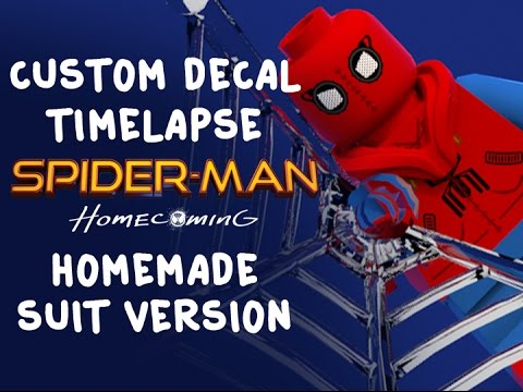 Lego Spiderman Homecoming Custom Decal YouTube - How to make homemade lego decals