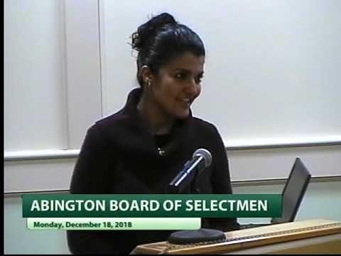Abington Selectmen Meeting - 12/18/18