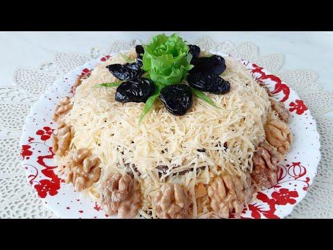 """Незабываемый салат """"Феномен"""" с копченой курицей, ананасом и черносливом на новогодний стол!"""