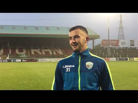 Post-match in Belfast with Leo Smith - Glentoran 1 TNS FC 1