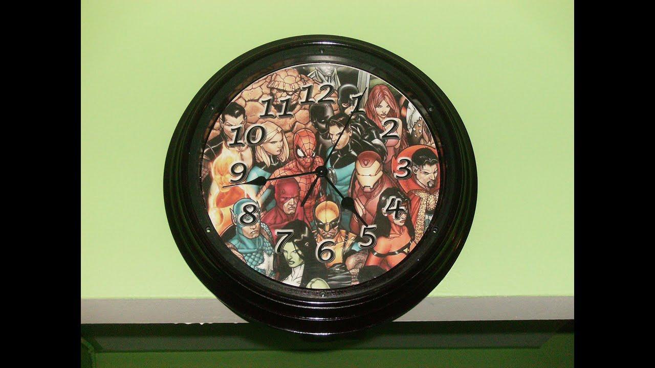 Dollarstore hack diy marvel dc superhero wall clock youtube amipublicfo Choice Image