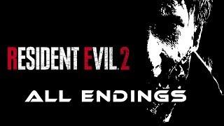 Resident Evil 2 (RE2) Remake I ALL Endings (Leon/Claire & True Ending)