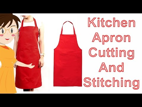 Kitchen Apron Cutting And Stitching | DIY - Tailoring With Usha