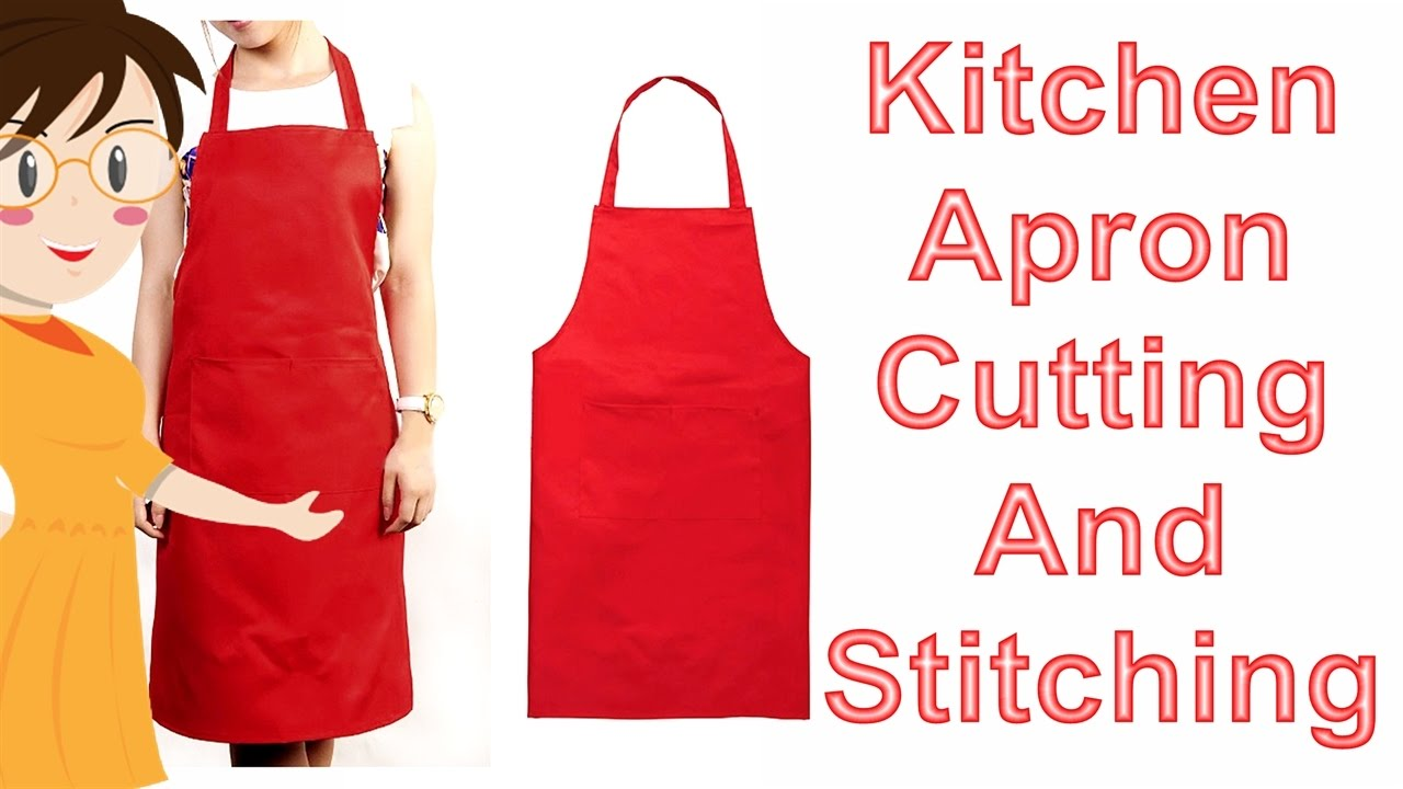 Kitchen Apron Cutting And Stitching | DIY   Tailoring With Usha   YouTube