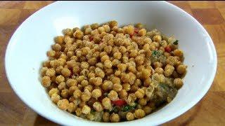 Spicy Chick Peas with Aubergine Caviar with Angela Hartnett