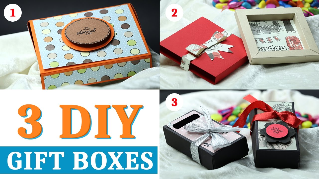 gift box: how to make gift box with paper | handmade paper gift box