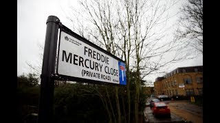 Freddie Mercury has had a road named after him in West London where he lived in his teens  - Latest