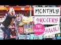 December 2018 Monthly Grocery Haul on a Budget   Freezer Cooking for TWO MONTHS!