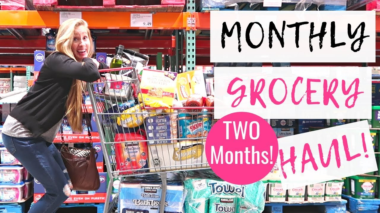 af679e03552 December 2018 Monthly Grocery Haul on a Budget | Freezer Cooking for TWO  MONTHS!