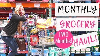 December 2018 Monthly Grocery Haul on a Budget | Freezer Cooking for TWO MONTHS!