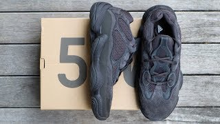 """ADIDAS YEEZY 500 """"UTILITY BLACK"""" 