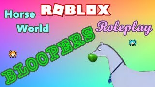 ROBLOX HORSE WORLD Aqua Horse ROLEPLAY! 😄 BLOOPERS Funny Edition with sister LYRONYX!