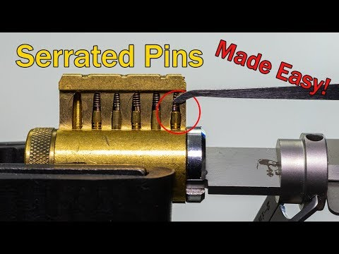 [372] How To Pick Serrated Pins | Lock Picking Simply Explained!