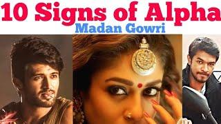 10 Signs of Alpha | Tamil | Madan Gowri | MG