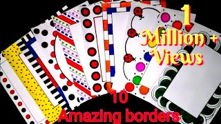 10 beautiful borders for projects handmade|simple border designs on paper|assignment front page bord
